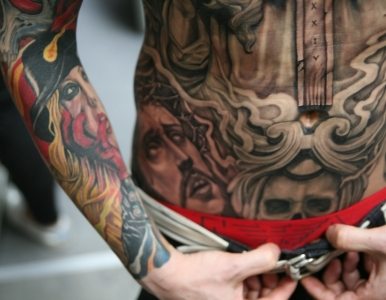 Langfang in China tattoo convention