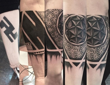 tribal tattoo (cover up)